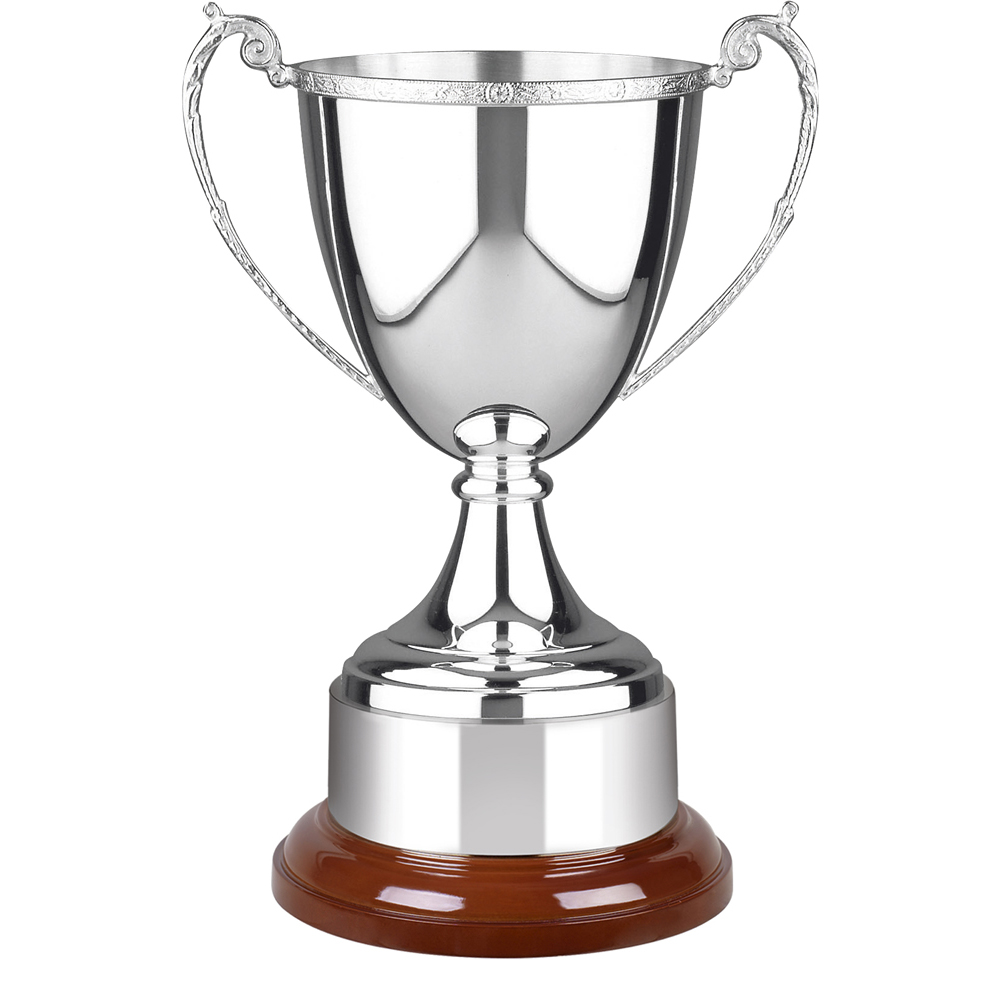 14 Inch Decorative Rim & Wooden Plinth Celtic Trophy Cup