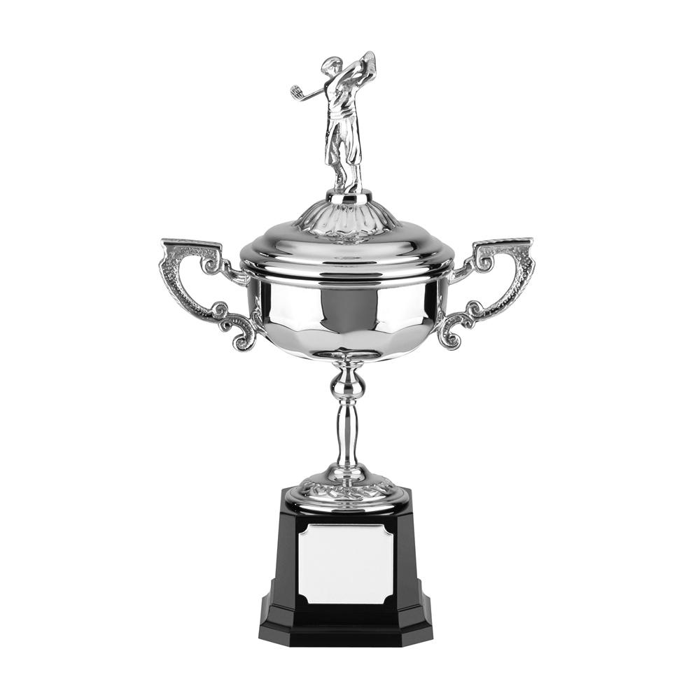 9 Inch Golf Figure & Heavyweight Base Golf Stableford Trophy Cup
