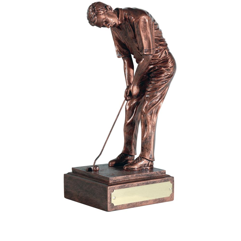 8 Inch The Champion Golf Antiquity Figure Award