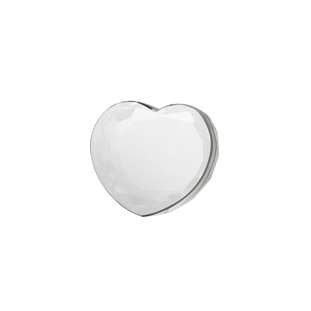 3 Inch Solid Heart Crystal Award