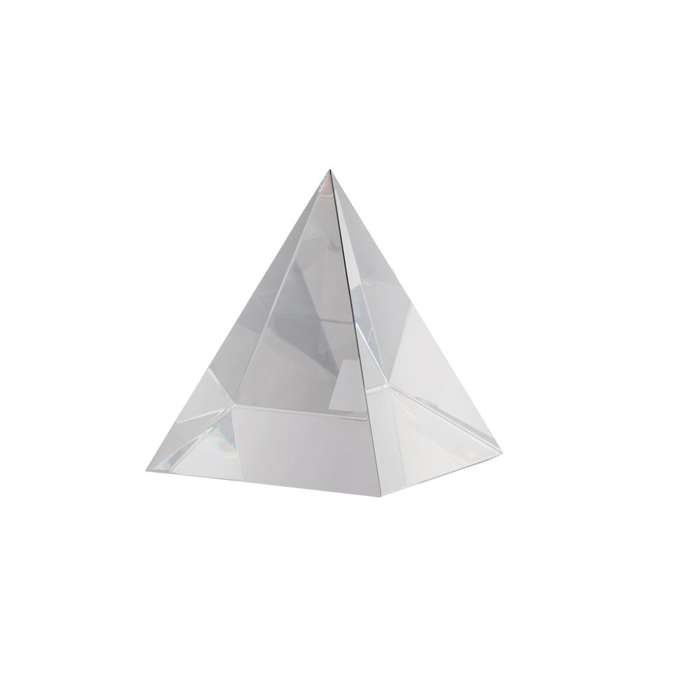 4 Inch 3D Pyramid Crystal Award