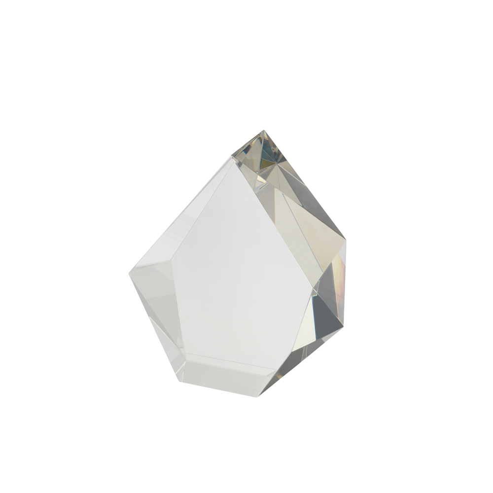 7 x 2 Inch Thick Solid Flame Crystal Award