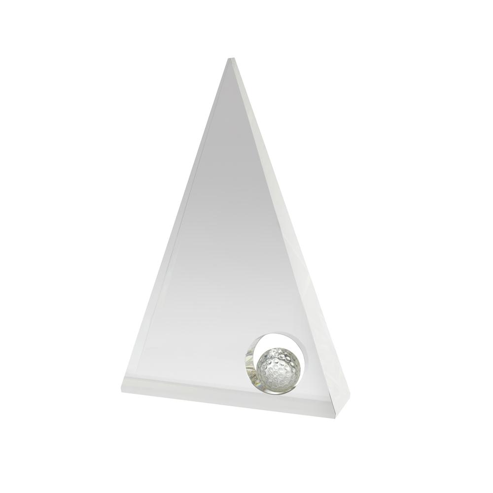 8 Inch Pyramid Golf Crystal Award