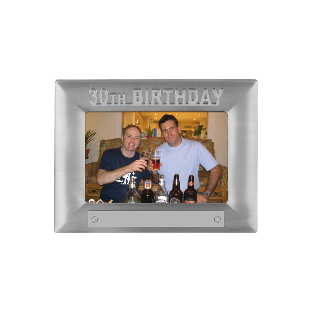 7 x 5 Inch 30Th Birthday Jaunlet Photo Frame
