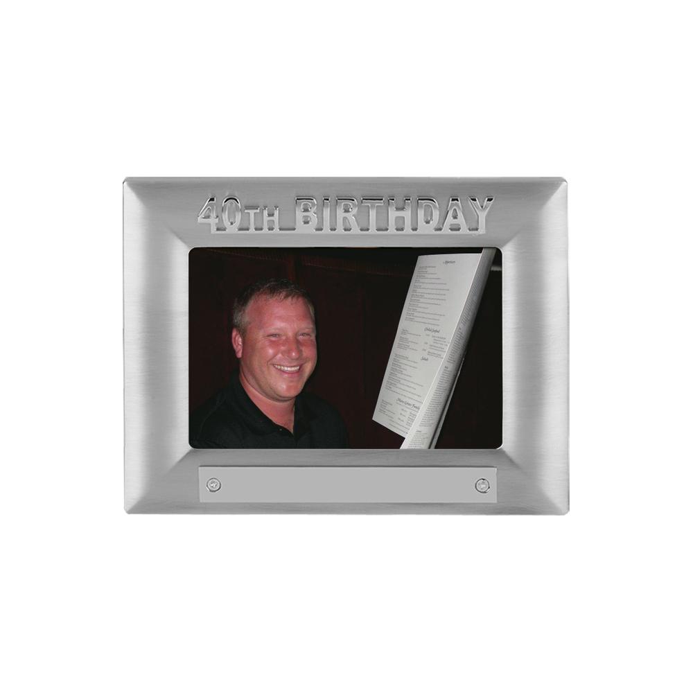 7 x 5 Inch 40Th Birthday Jaunlet Photo Frame