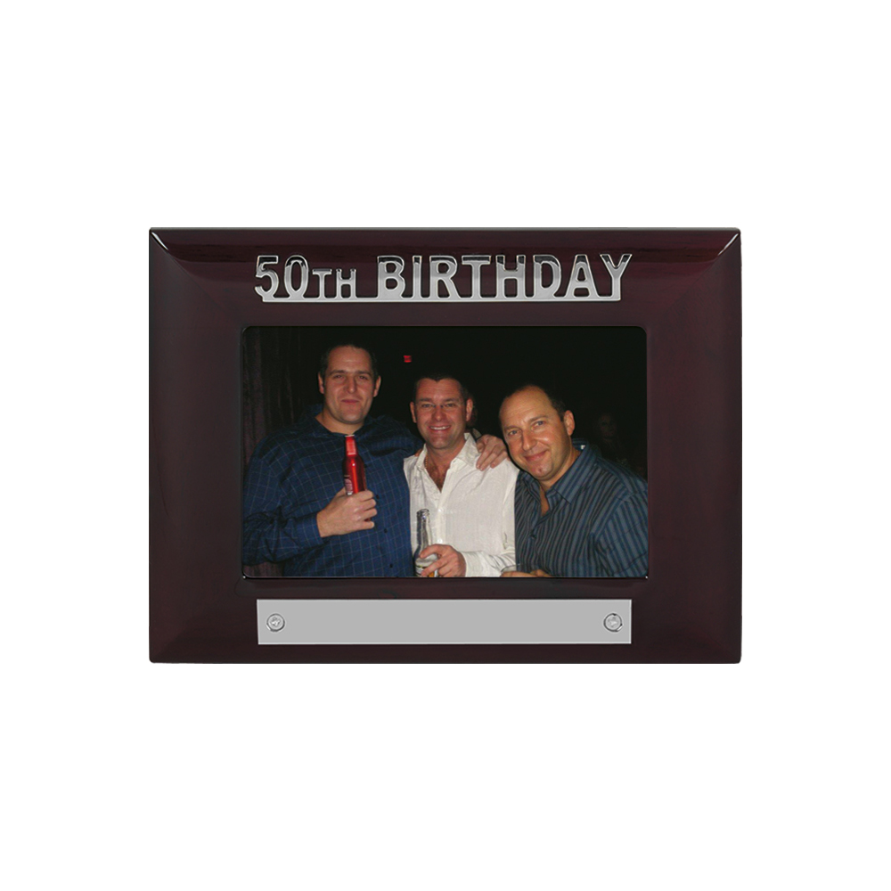 7 x 5 Inch 50Th Birthday Jaunlet Photo Frame
