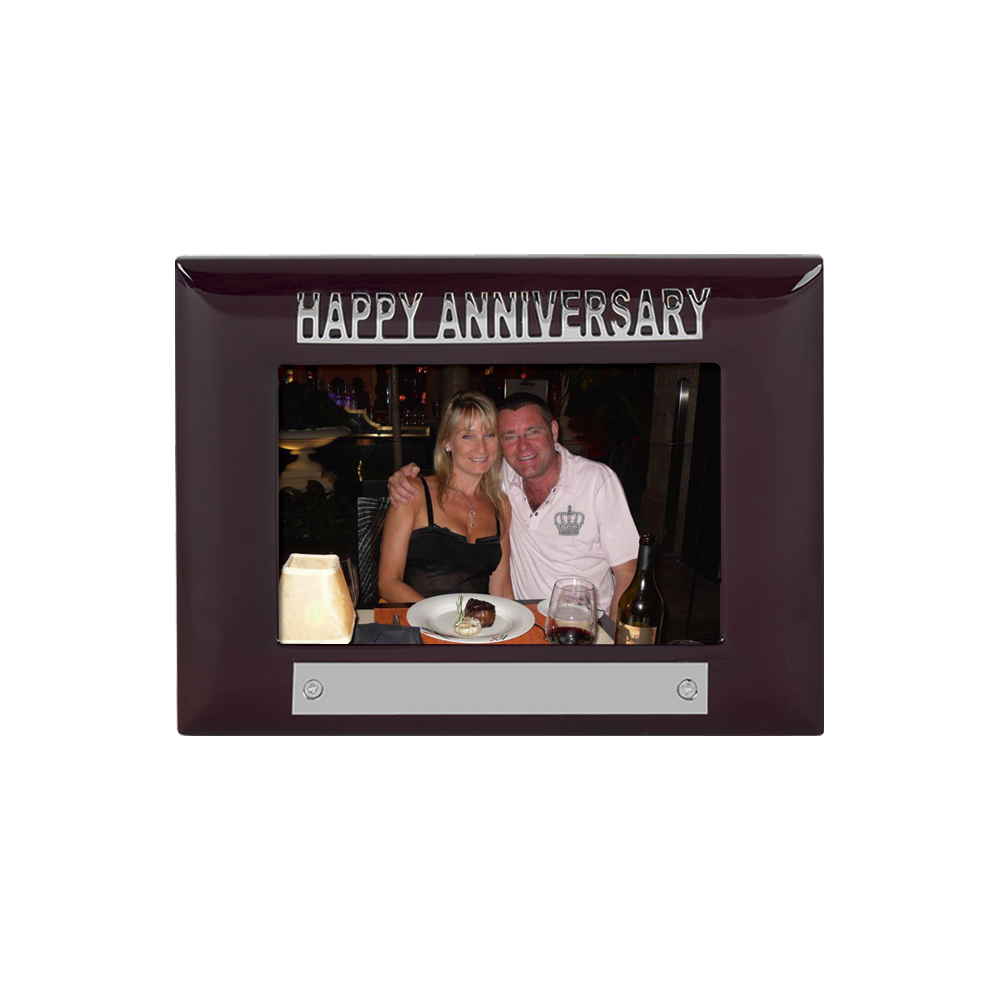 7 x 5 Inch Happy Anniversary Anniversary Jaunlet Photo Frame