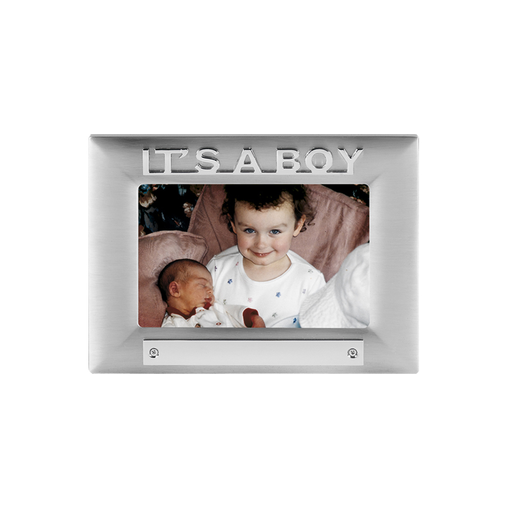 7 x 5 Inch Its A Boy Satin Finish Christening Jaunlet Photo Frame