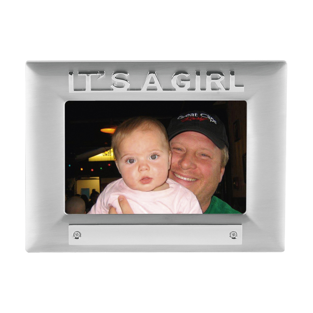 7 x 5 Inch Tall Its A Girl Christening Jaunlet Photo Frame