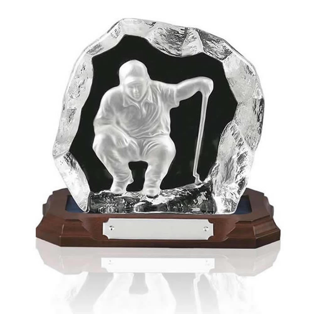 6 Inch Nearest The Pin Heavy Glass Golf Award