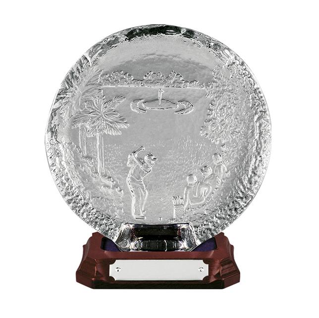 9 Inch Golf Scene Tray Golf Amity Award