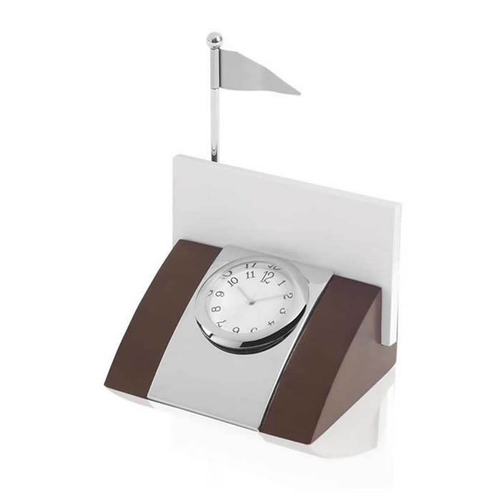 4 Inch Golf Clock And Card Holder Set