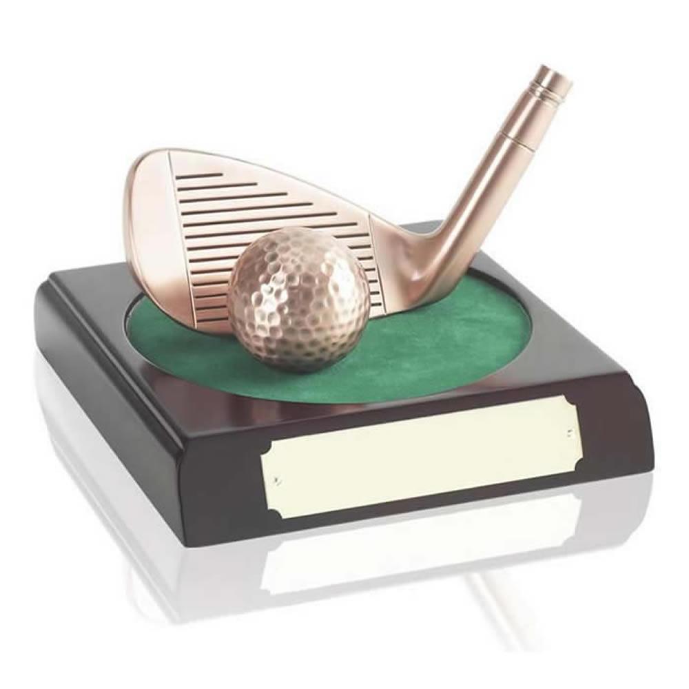 3 Inch Golf Iron And Ball Award
