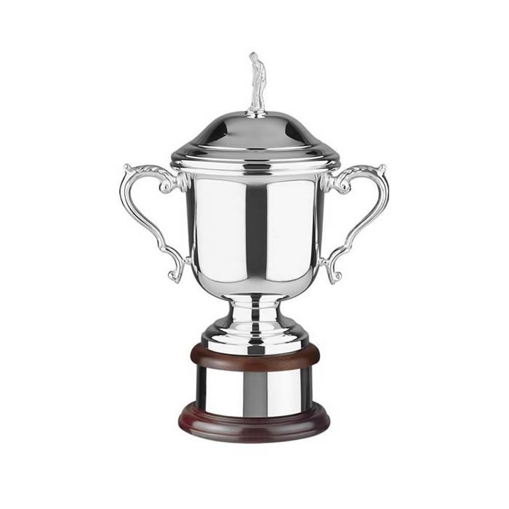 12 Inch Wentworth Figurine Lid Golf Wentworth Trophy Cup