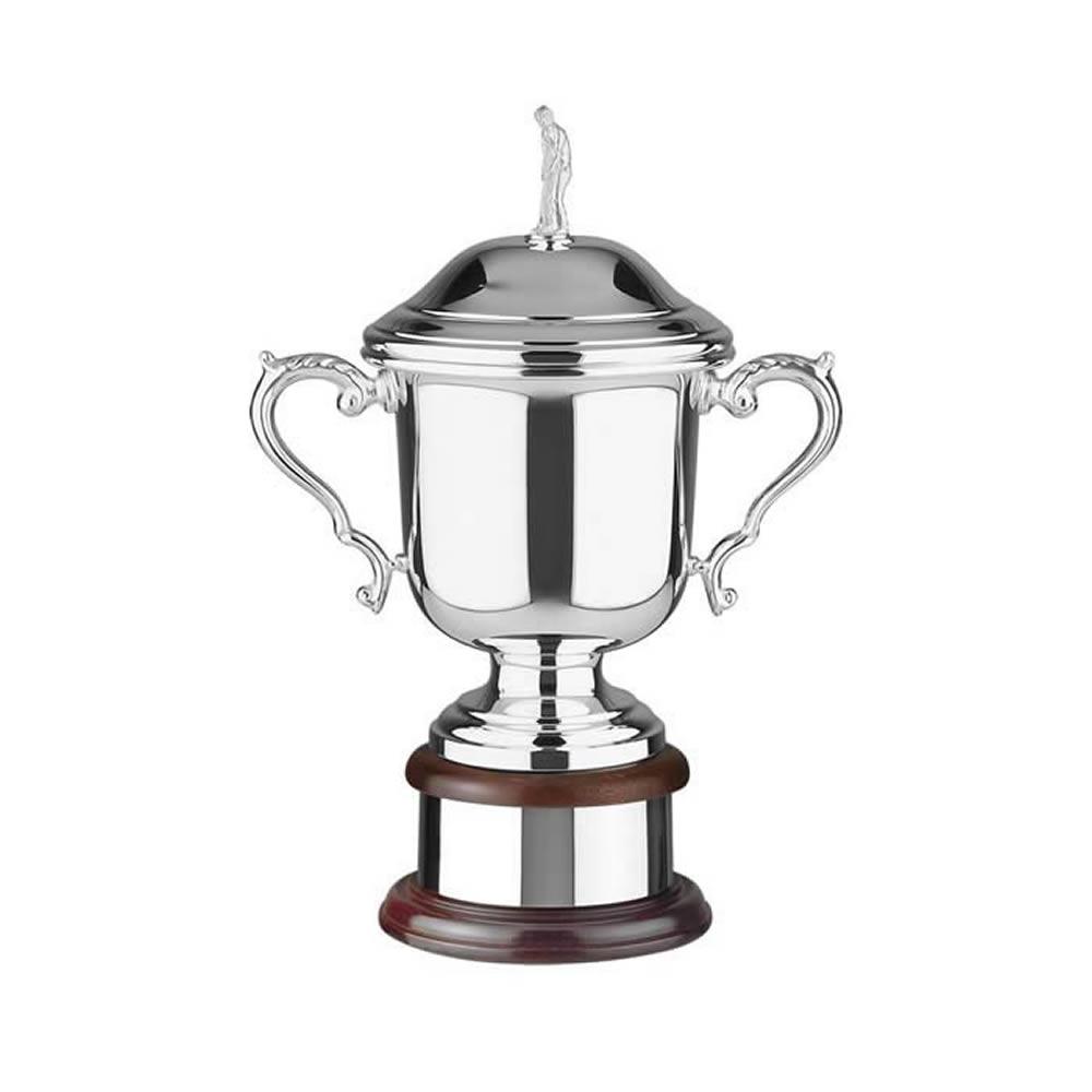 13 Inch Wentworth Figurine Lid Golf Wentworth Trophy Cup