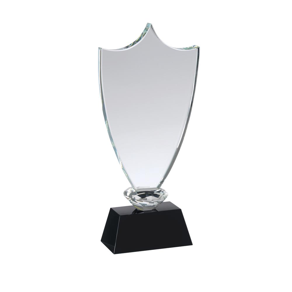 8 Inch Classic Shield Crystal Award