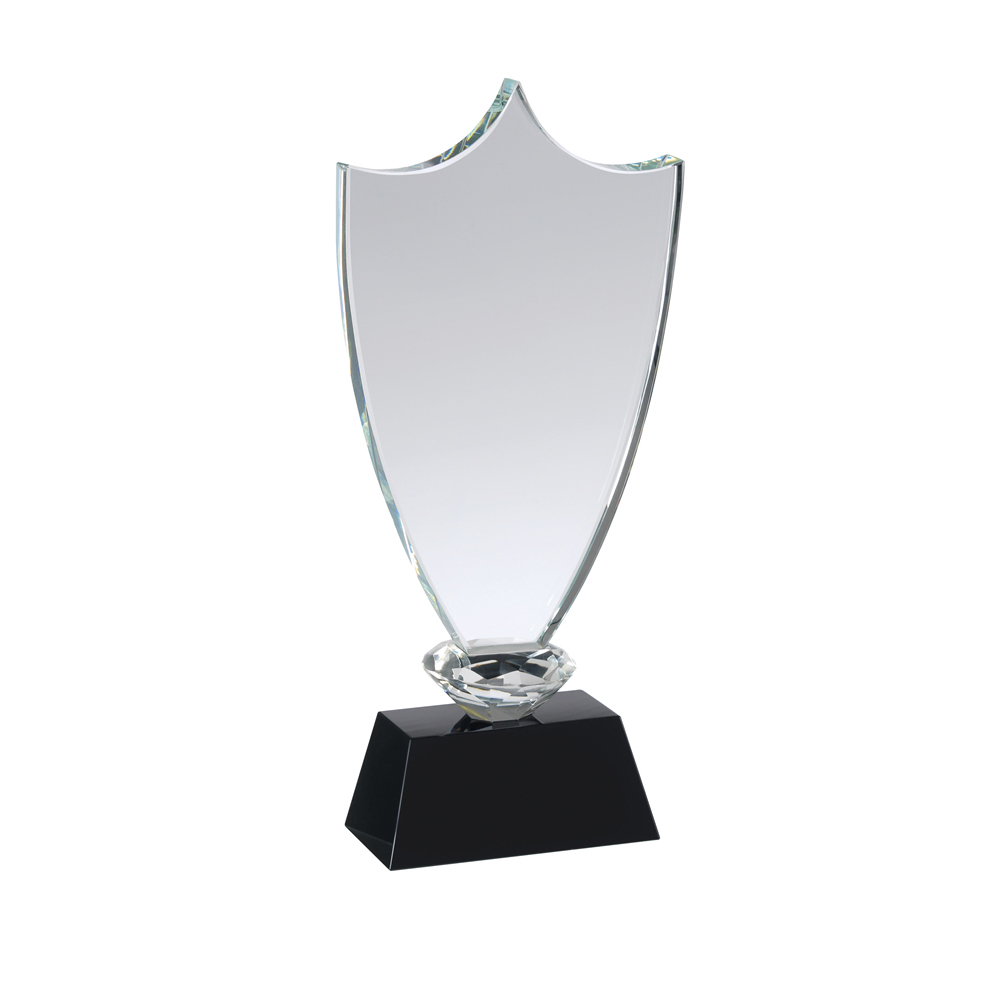 10 Inch Classic Shield Crystal Award