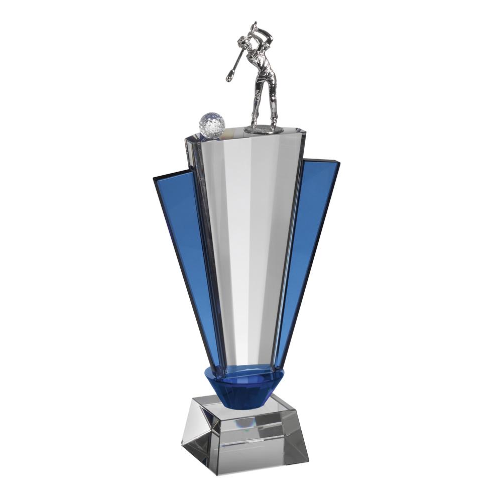 12 Inch Metal Figure Golf Crystal Award