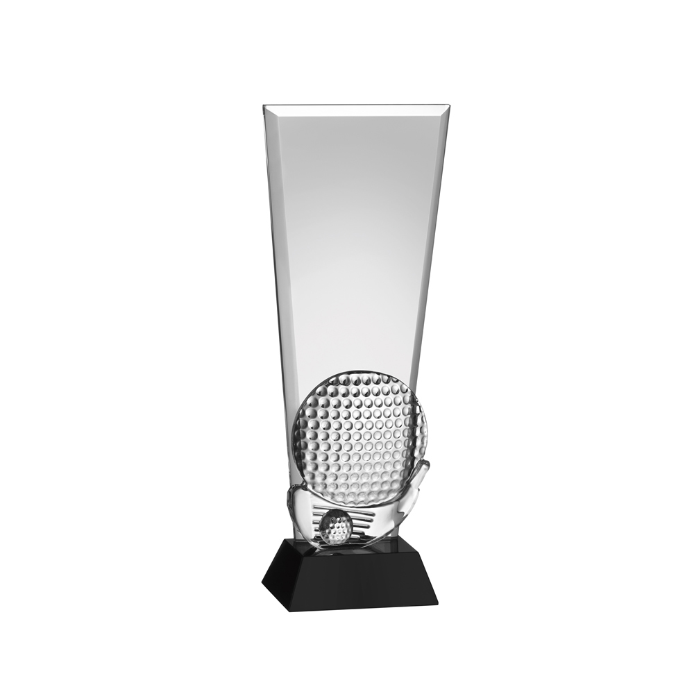 11 Inch Ball & Iron Golf Crystal Award