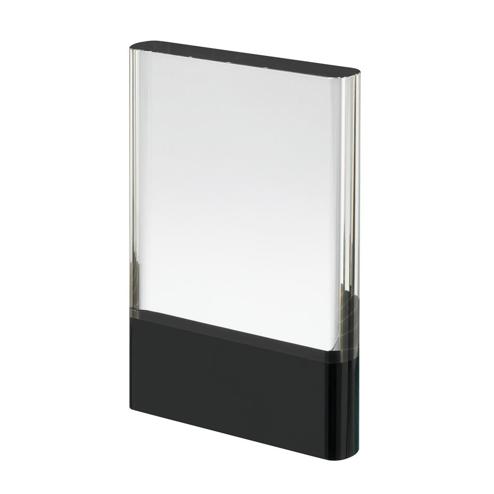 7 Inch Clear & Black Block Crystal Award