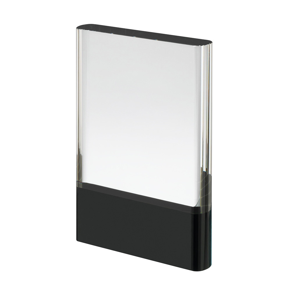 9 Inch Clear & Black Block Crystal Award