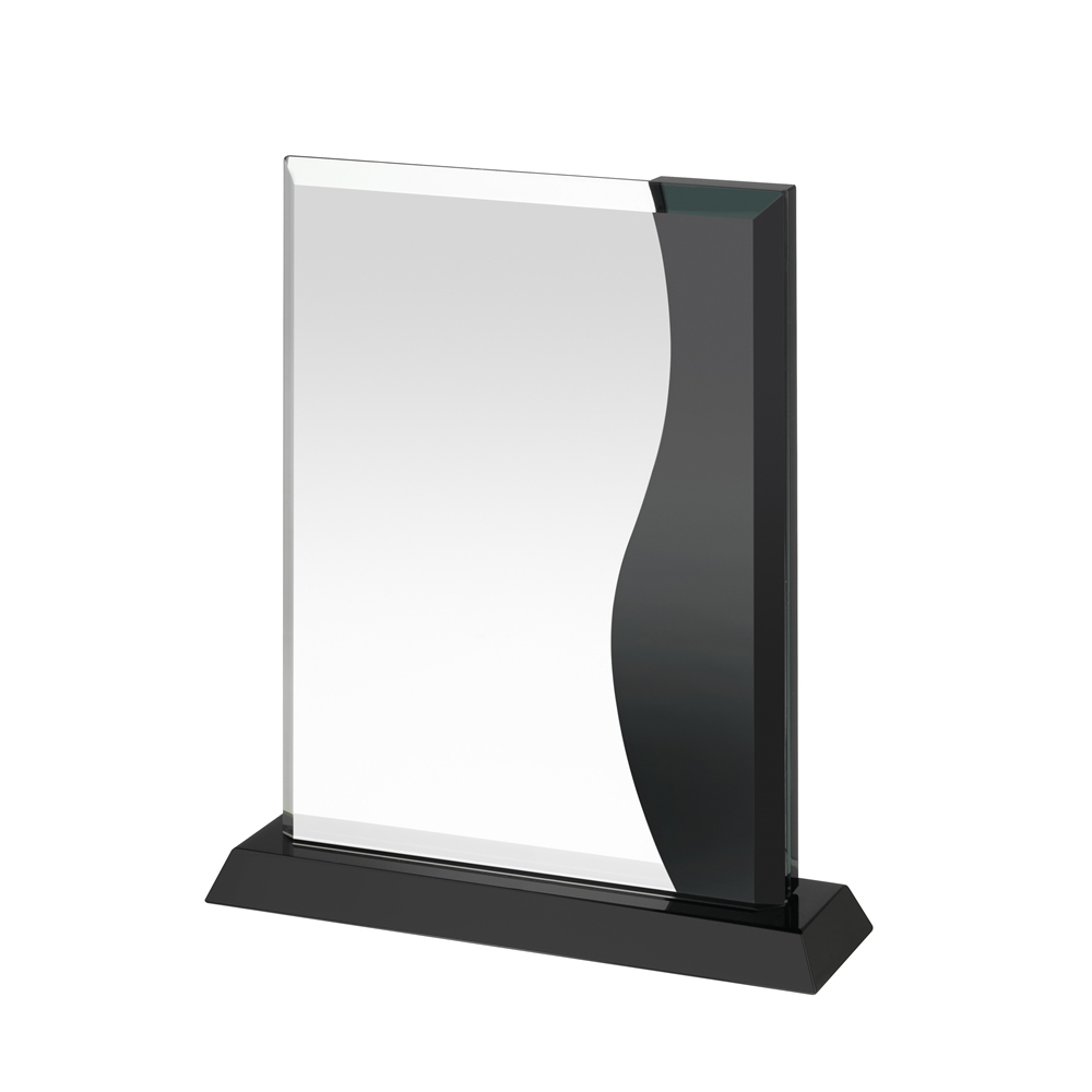 8 Inch Clear & Black Portrait Crystal Award