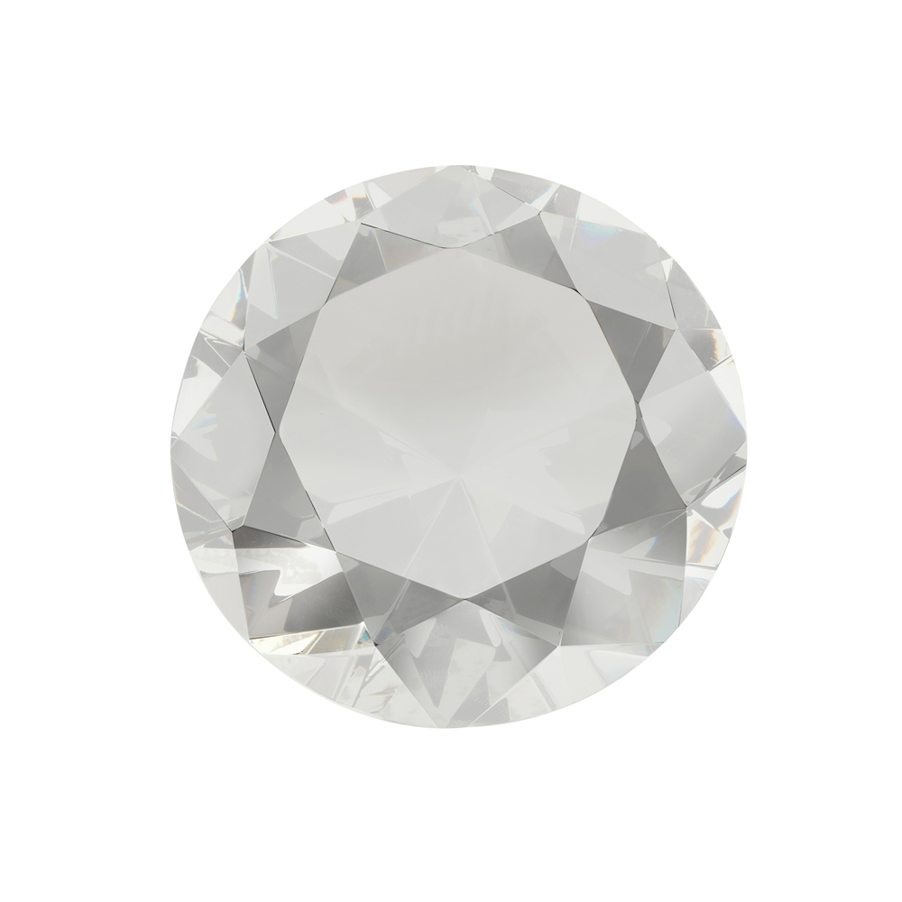 2 Inch Diamond Shape Crystal Paperweight