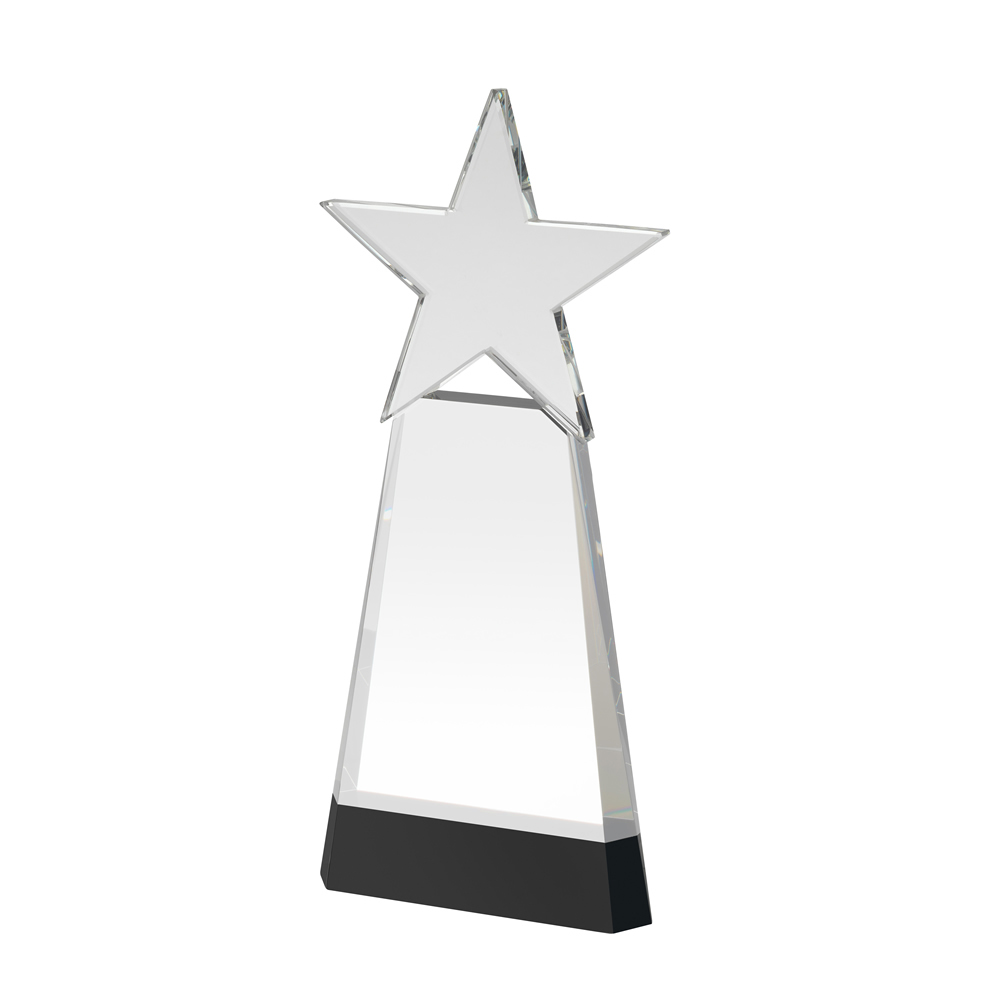 8 Inch Star Pyramid Crystal Award