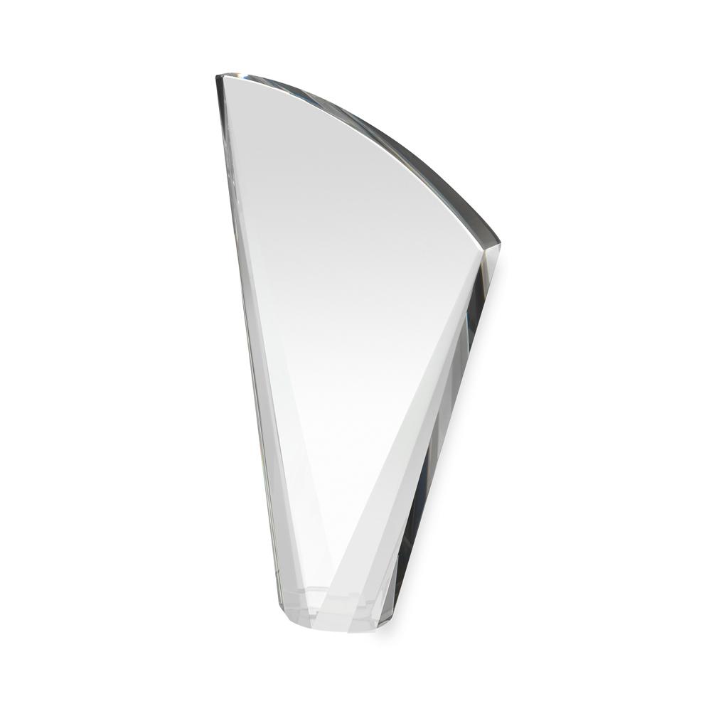 8 Inch Heavy Curved Crystal Award