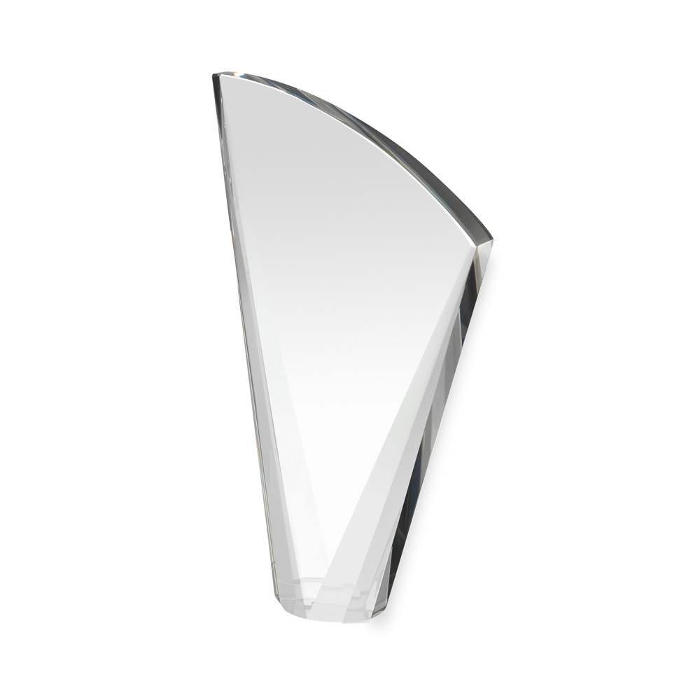 8 Inch Heavy Curved Crystal Award