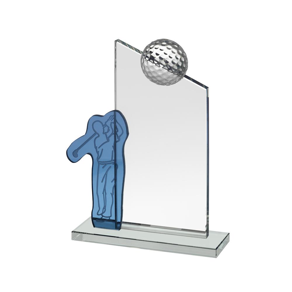 7 Inch Golfer Golf Crystal Award
