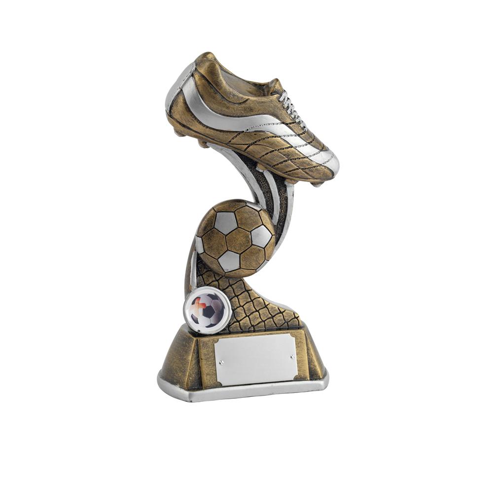 9 Inch Boot & Ball Football Golden Lion Award