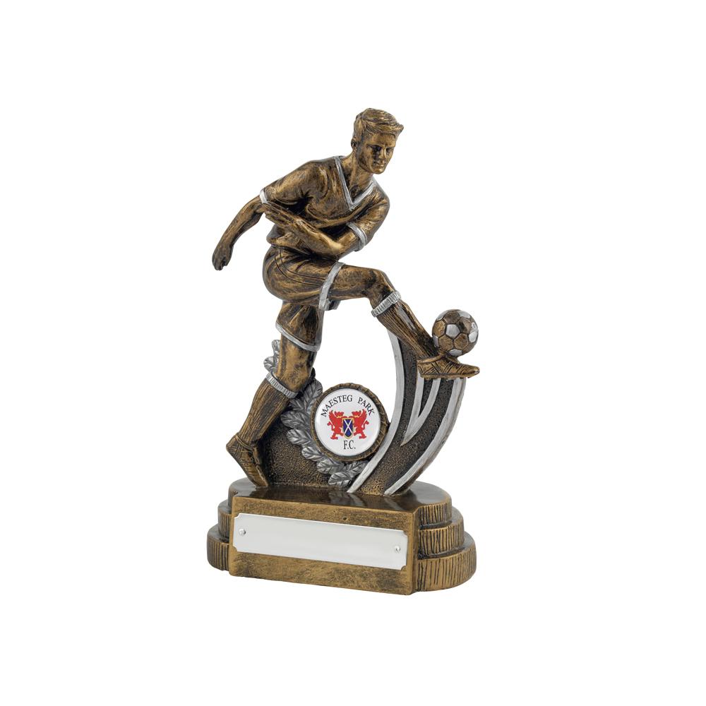 8 Inch Boot Striker Football Golden Lion Figure Award