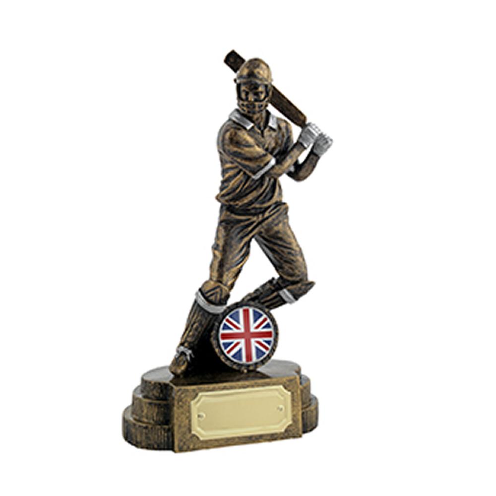 7 Inch Batsman Cricket Golden Lion Figure Award