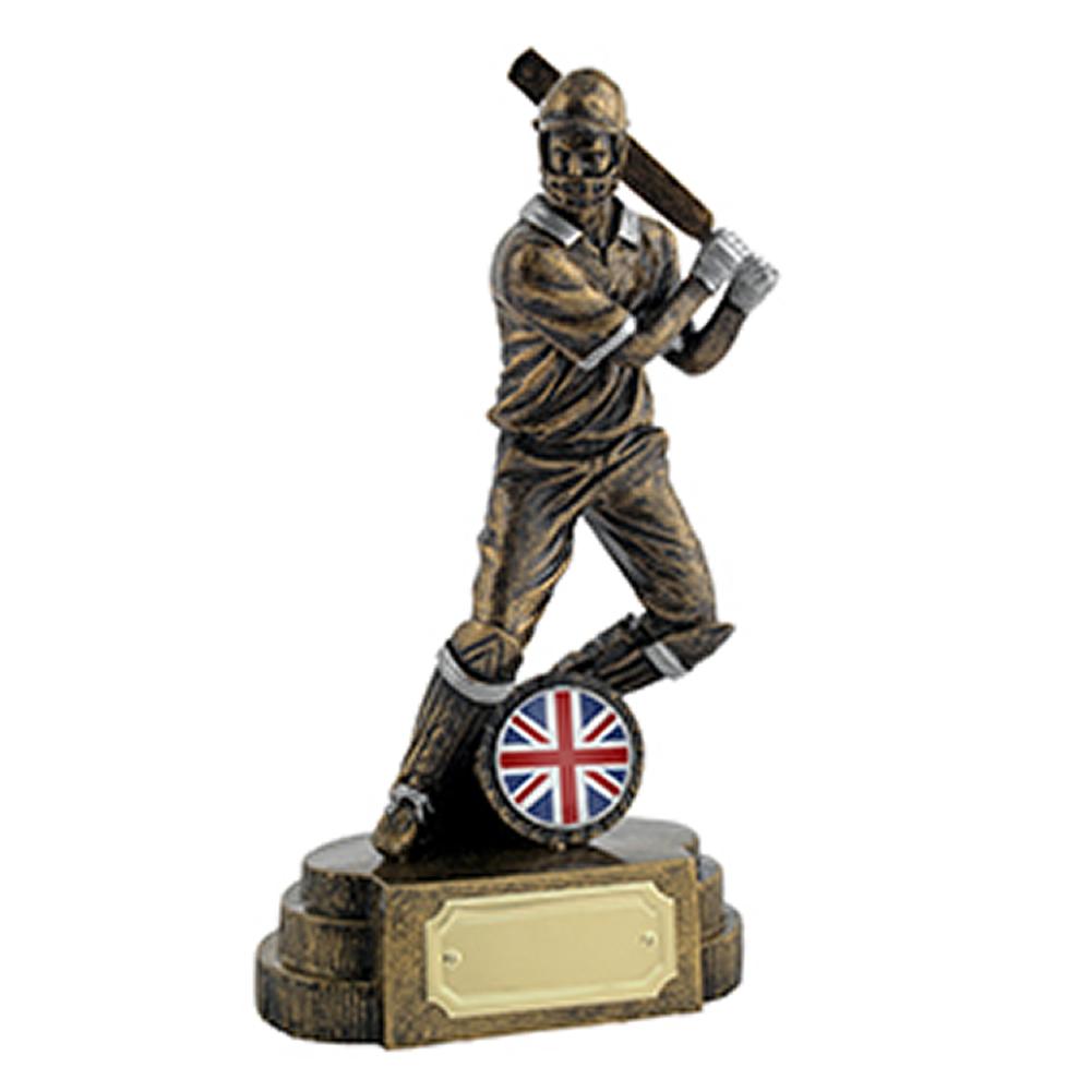 8 Inch Batsman Cricket Golden Lion Figure Award