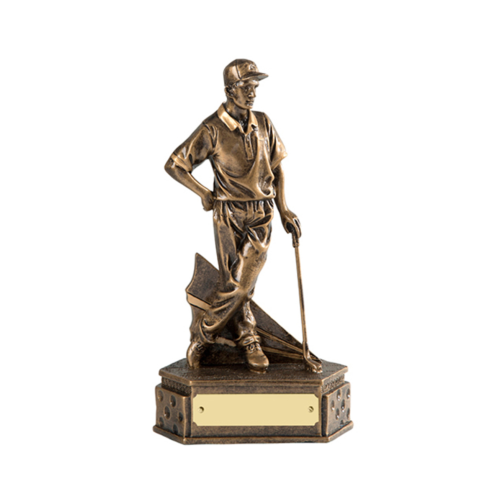 6 Inch Match Winner Golf Golden Lion Figure Award