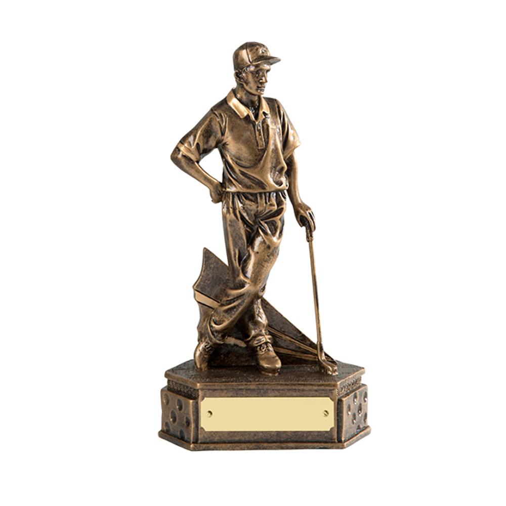 7 Inch Match Winner Golf Golden Lion Figure Award