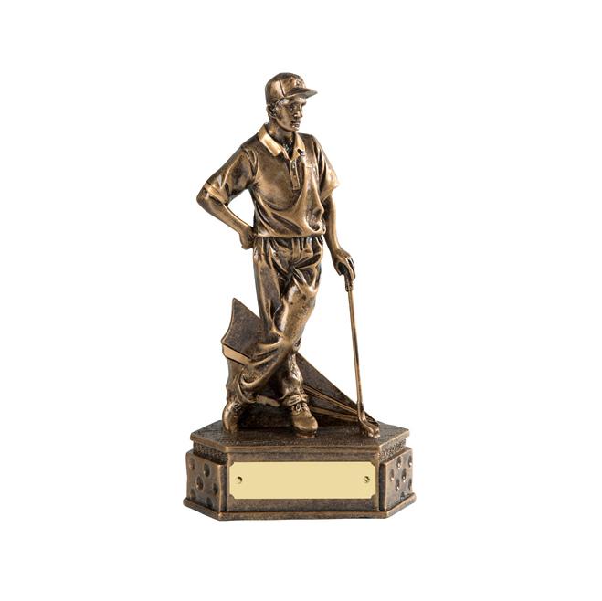 8 Inch Match Winner Golf Golden Lion Figure Award