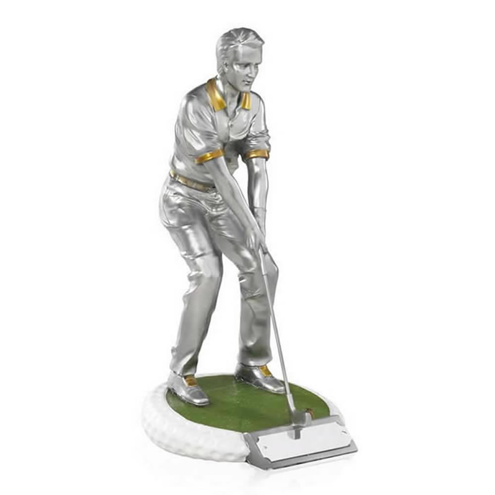 7 Inch On The Green Male Golf Golden Lion Figure Award