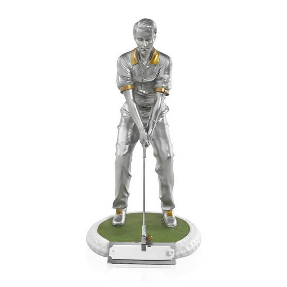 8 Inch On The Green Male Golf Golden Lion Figure Award