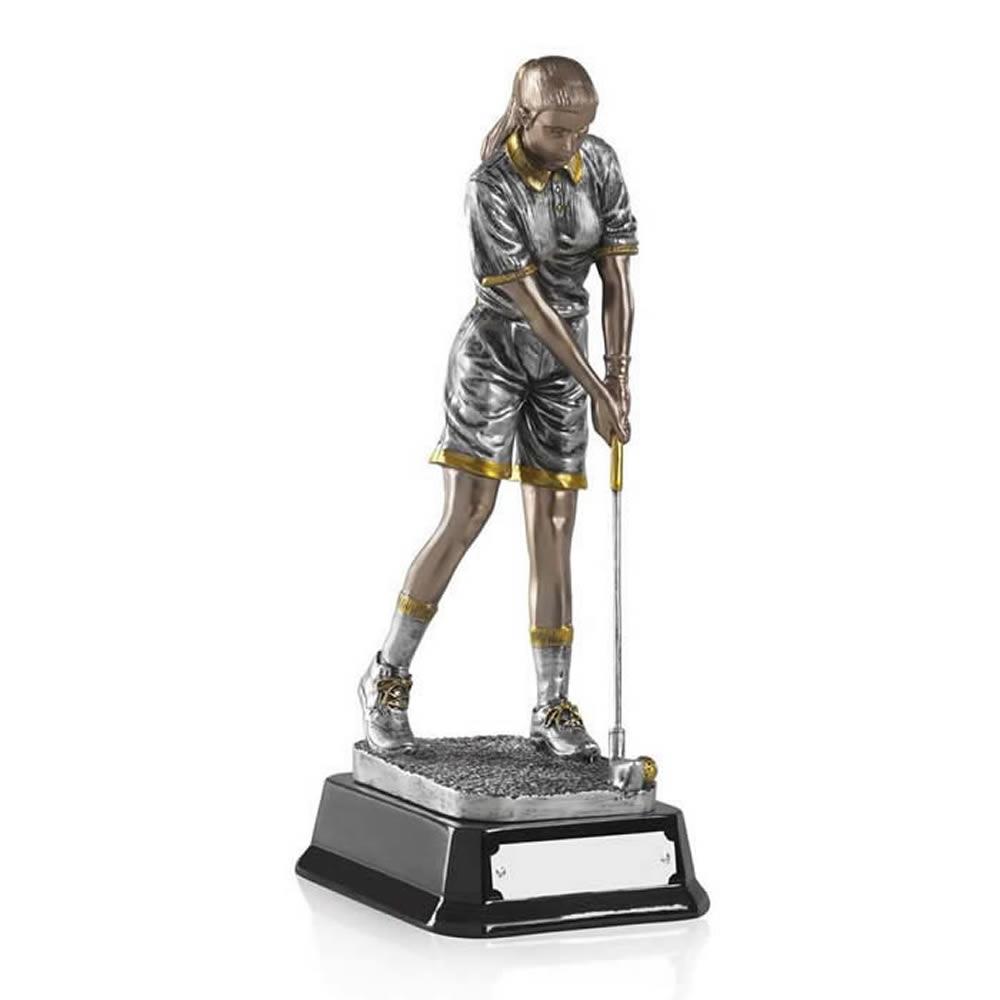 8 Inch Female Putter Golf Golden Lion Figure Award