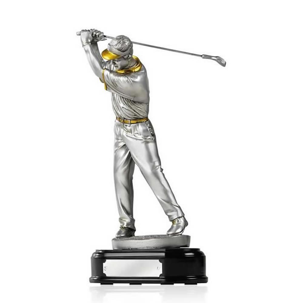 8 Inch Pre Swing Golf Golden Lion Figure Award