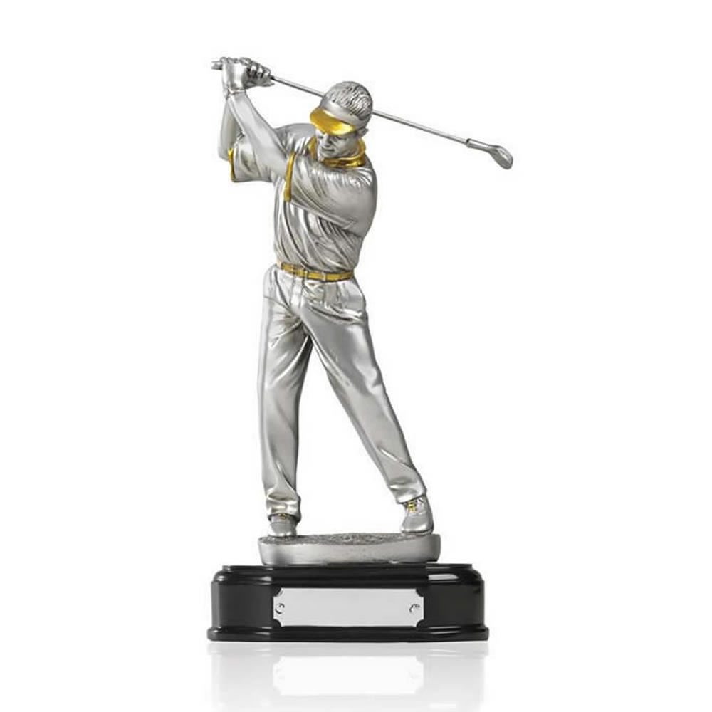 9 Inch Pre Swing Golf Golden Lion Figure Award