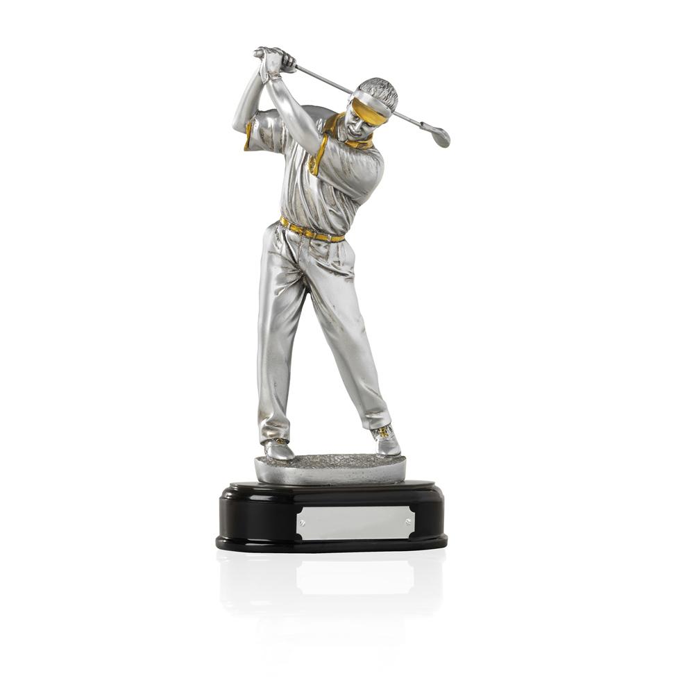 10 Inch Pre Swing Golf Golden Lion Figure Award