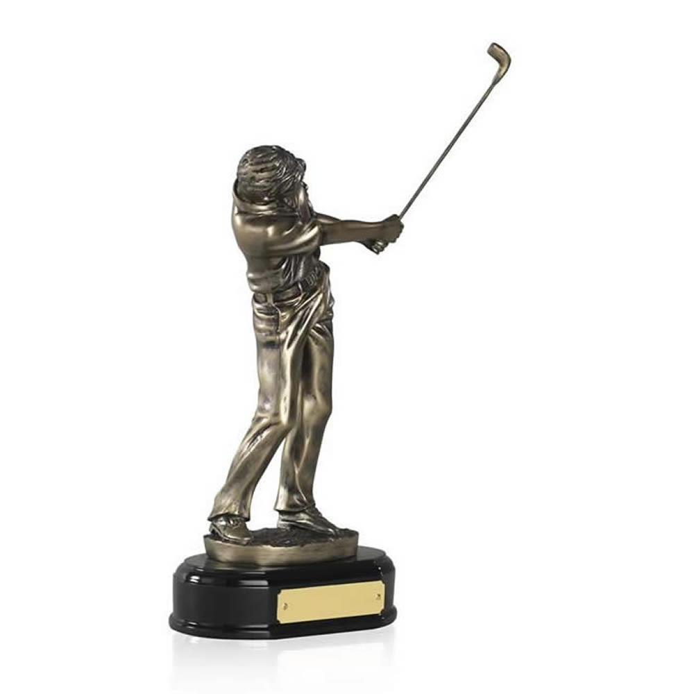 9 Inch Swinging Male Golf Golden Lion Figure Award