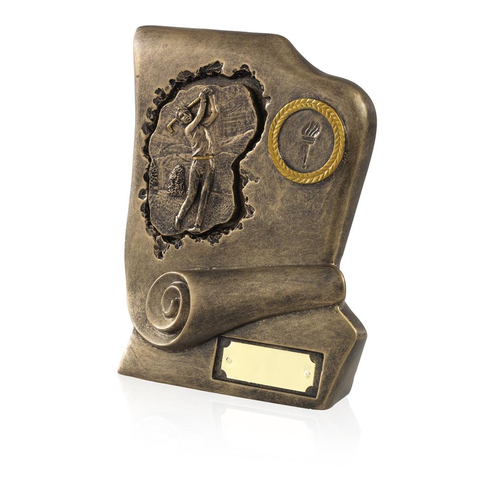 7 Inch Scroll Golf Golden Lion Award