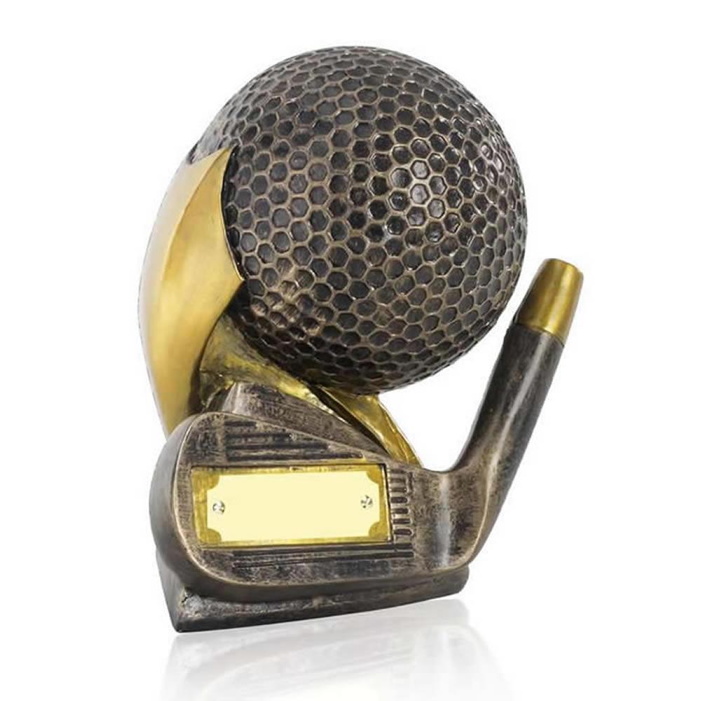 5 Inch Bronze Resin Golf Ball Award