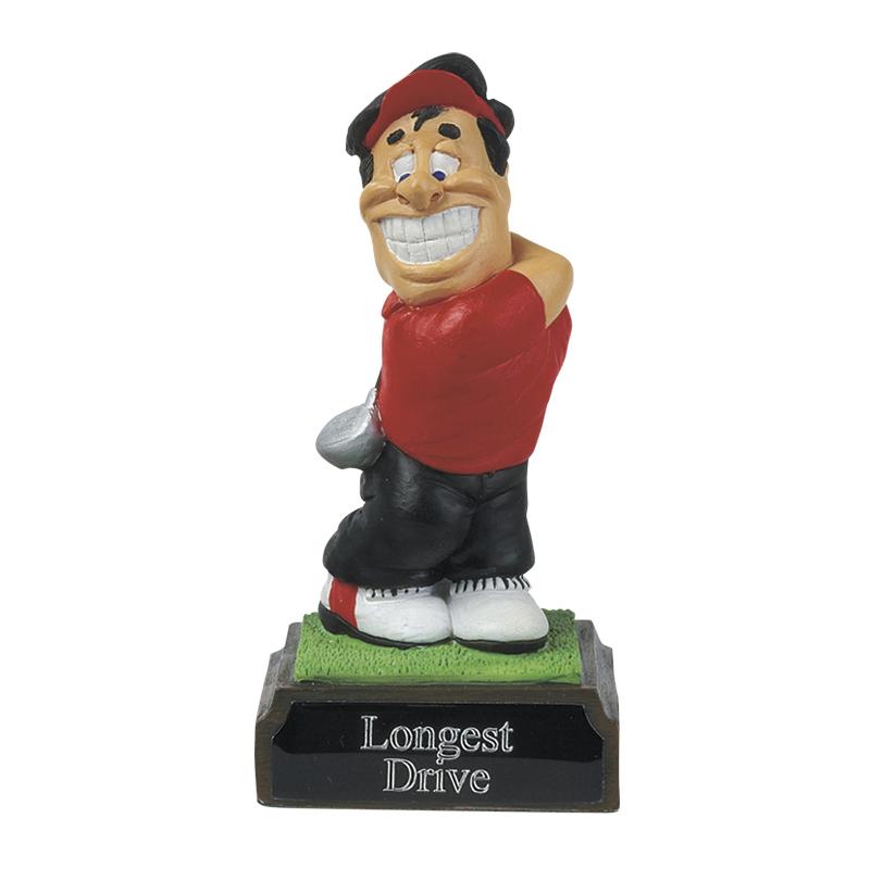 4 Inch Humorous Longest Drive Golf Heroes Award