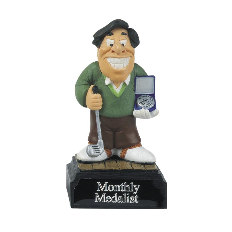 4 Inch Humorous Monthly Medalist Golf Heroes Award