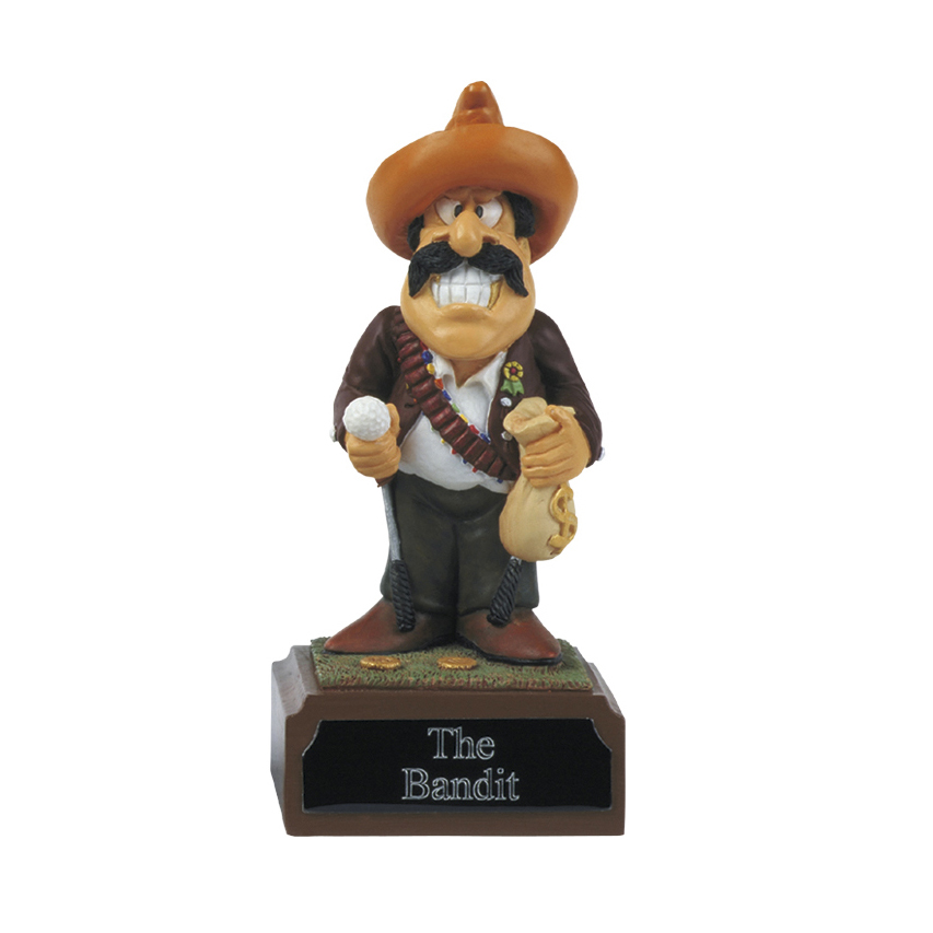 4 Inch Humorous The Bandit Golf Heroes Award
